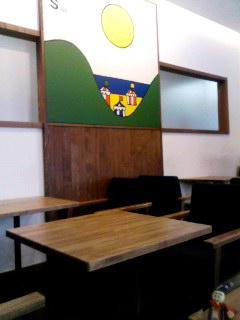 モスバーガー銀座カフェ。
