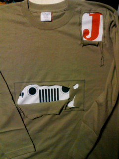 新作のジープTシャツ完成!
