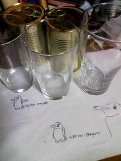 ペンギン彫ります。