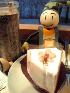 ケーキでお花見?